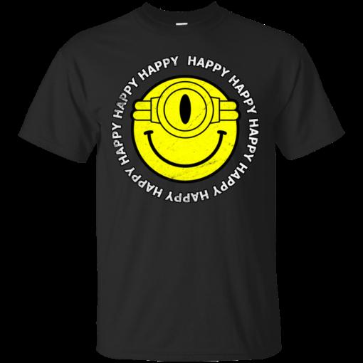 Happy happy happy minions happy Cotton T-Shirt