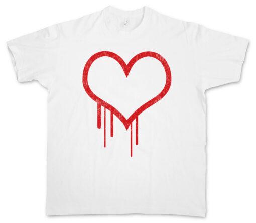 Hearts Bleeding Heart I Bloody Splatter Tattoo Valentine Gore T Shirt