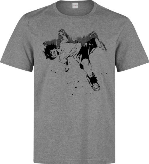 High Quality Gray Men'S Art Academy Punch Hero Animated Boku No Deku T Shirt