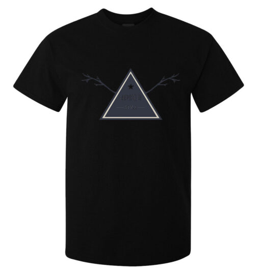 Hipster Style Stylish Fashioned Triangle (Available For Women) Men Black T Shirt