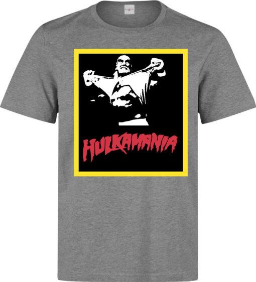 Hulk Hogan Hulkmania Red Black And Yellow Men (Women Available) Gray T Shirt