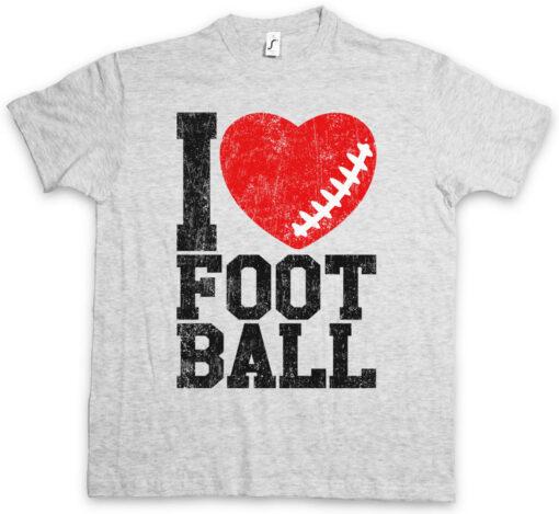 I Love Football I Love Hearts Heart Addict Addiction Ball Of The Foot T Shirt
