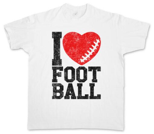 I Love Football Ii Love Hearts Heart Addict Addiction Ball Foot T Shirt