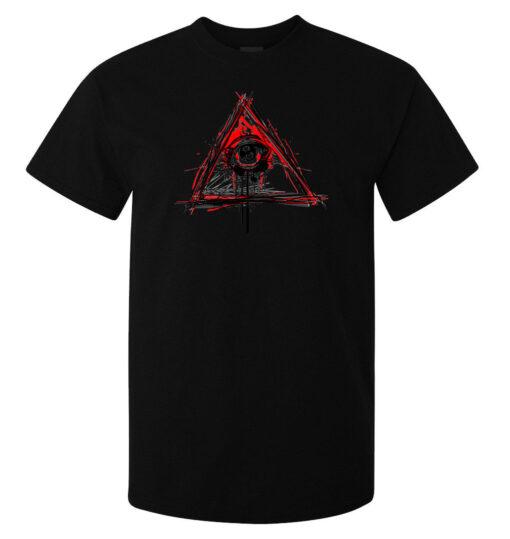 Illuminati Sees All The Top Black Eye Watches Nwo New World Order Men T Shirt