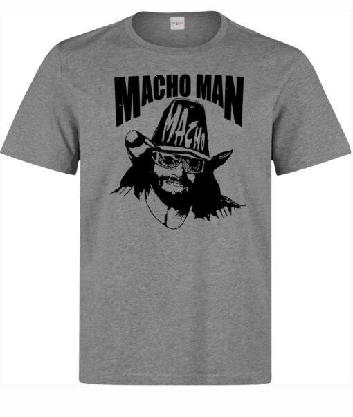 Illustrations Of Men Macho Man Randy Savage (Woman Available) Gray T Shirt