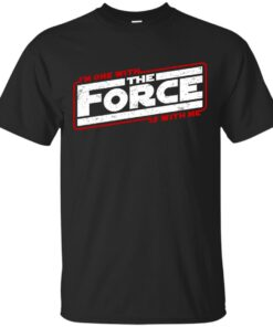 Im One with The Force The Force is with Me Cotton T-Shirt