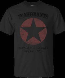 Immigrants We Get the Job Done Black Cotton T-Shirt