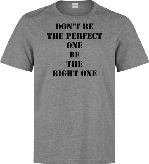 It Is Not The Perfect Be The Most Suitable Of Men (Women Available) Gray T Shirt