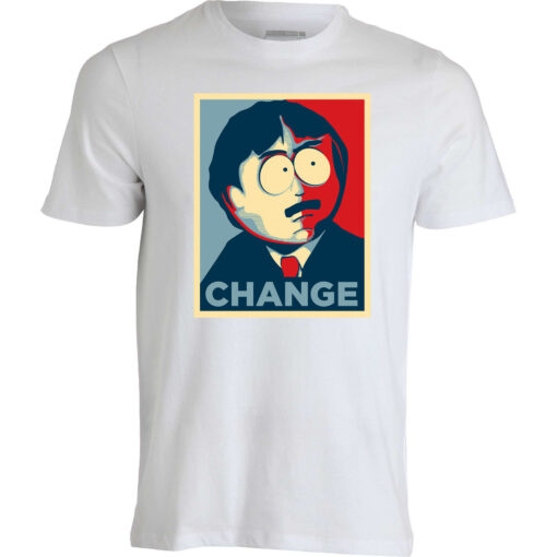 It Is The Style Of South Park Randy Marsh Change Obama Election Men Up White T Shirt