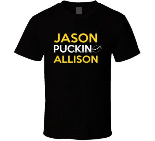 Jason Allison Boston Hockey Puckin T Shirt