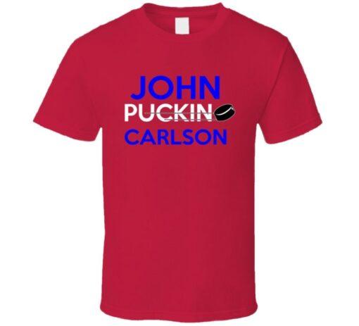 John Carlson Washington Puckin Hockey T Shirt