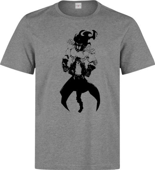 Jojo'S Bizarre Adventure Jotaro Kujo Star Men'S Gray T Shirt