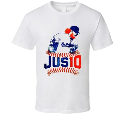 Justin Turner Red Chingon 2017 World Series Mvp La Dodgers Red October T Shirt
