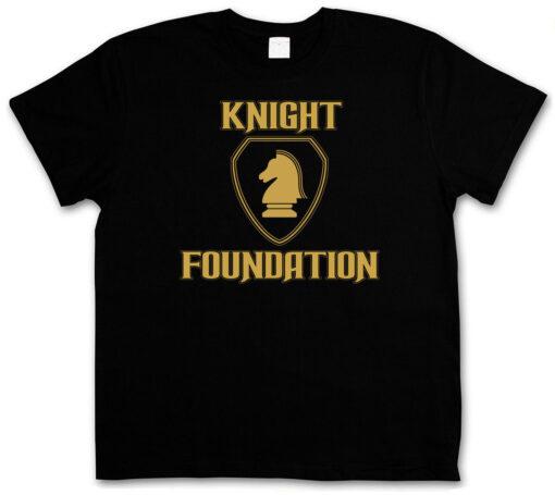 Knight Foundation Logo Black - Tv Series Rider David K 2000 Kult K.I.T.T. T Shirt