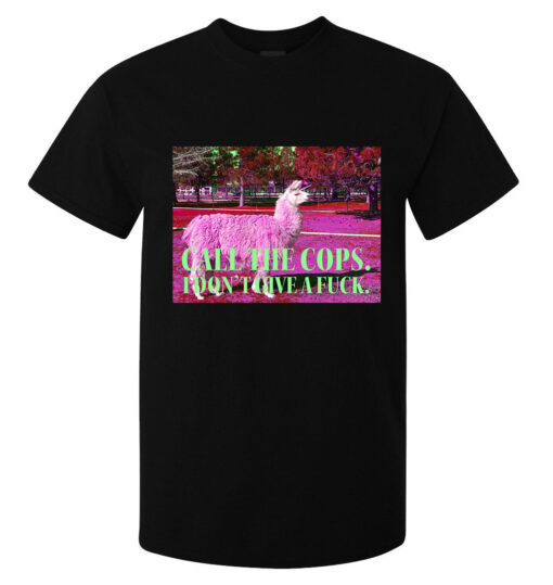 Lamma Call The Police. I Do Not Give A F * A (Available For Women) Black Men Ck T Shirt