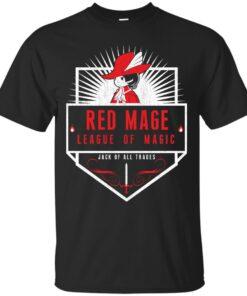 League of Magic Red Cotton T-Shirt