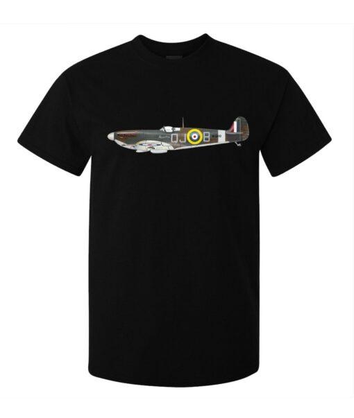 Legendary Spitfire Aircraft Art Of Men (Women Available) Black T Shirt