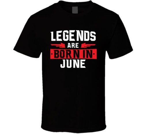 Legends Are Born In June Gemini Cancer Zodiac Birtday Gift T Shirt