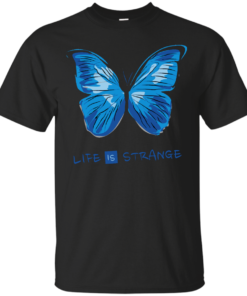 Life is Strange Blue Butterfly Cotton T-Shirt