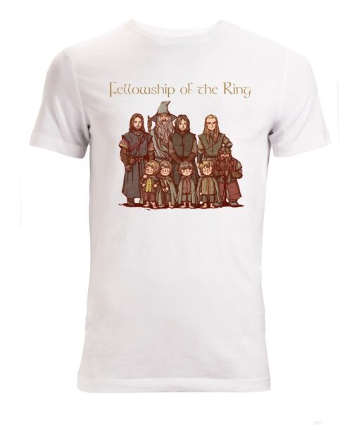 Lord Of The Rings Fellowship Of The Ring Character White Men T Shirt