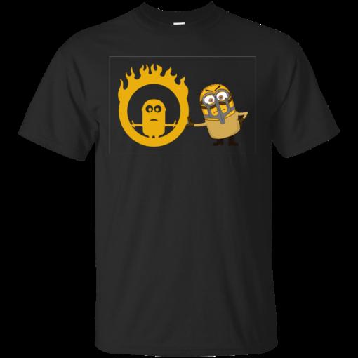 Mad Minion Minion Road the road warrior Cotton T-Shirt