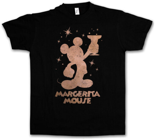 Margerita Mouse Fun Tee Wasted Drunk Alcohol Hangover Drunk Intoxicated T Shirt