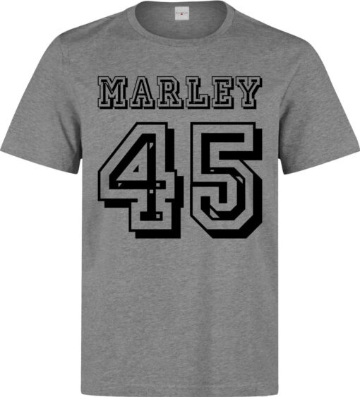 Marley 45 Number Lema Quality Elegant Men (Women Available) Gray T Shirt