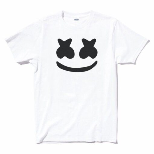 Marshmello Face White Party Dj Mello Logo Edm Dacne House Music T Shirt