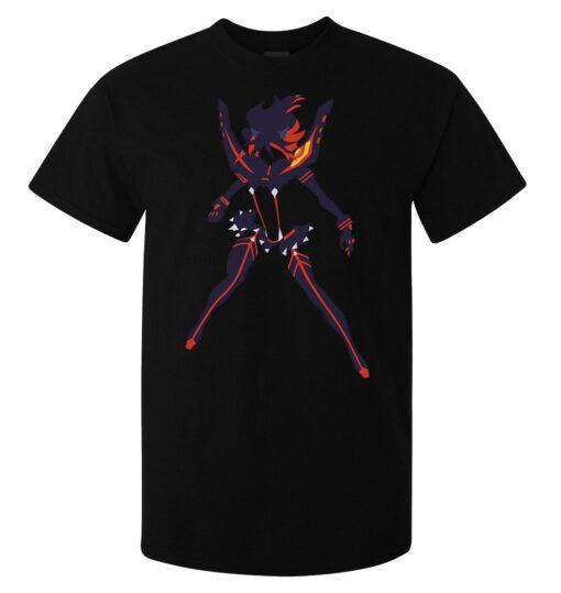 Mata La Mata Ryuko Mini Matoi Animated Art Men (Women Available) Black T Shirt
