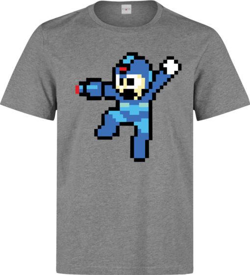 Megaman 8-Bit (Available For Women) Gray Men Illustrations T Shirt