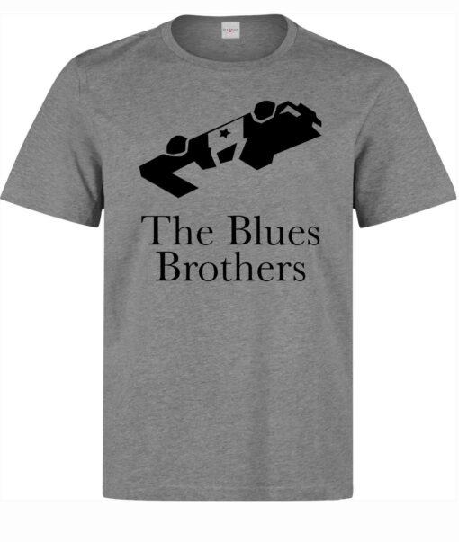 Men Blues Brothers Movie Legendary Police Car Gray T Shirt