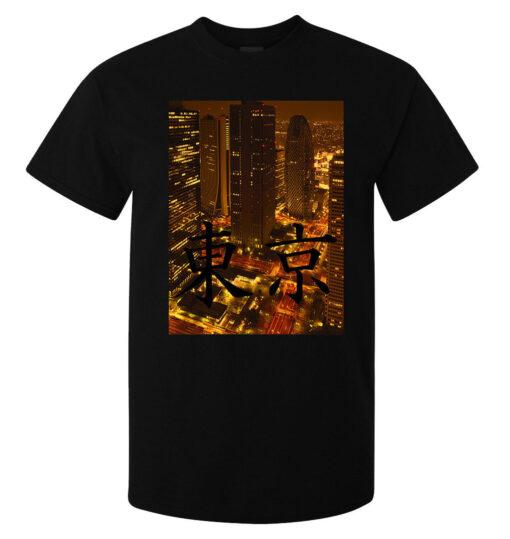 Men Japan City Tokyo Urban Art Top Quality Black (Available For Women) T Shirt