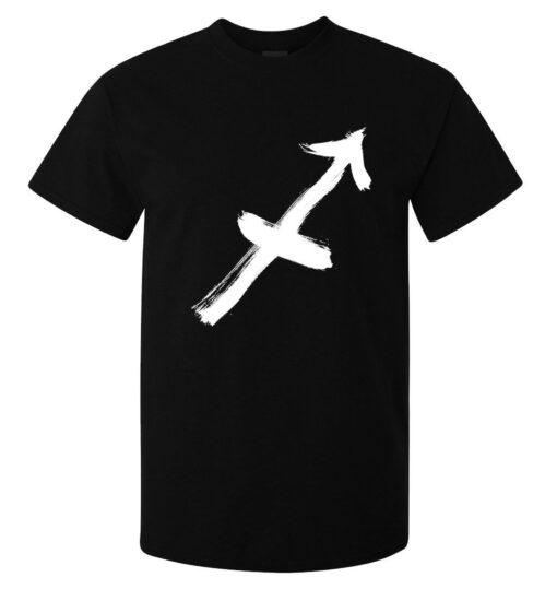 Men Sagittarius Zodiac Sign Logo Art (Women Available) Black T Shirt