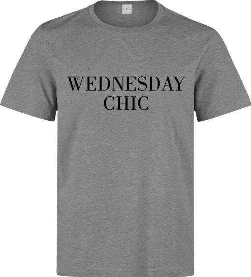 Men Stylish Classy Funny Slogan Wednesday Class (Women Available) Gray T Shirt