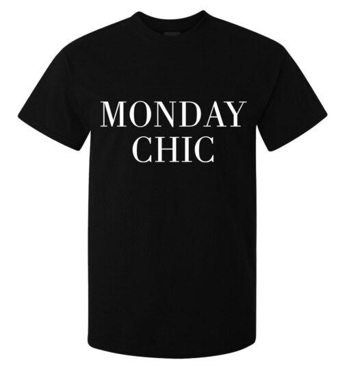 Men Stylish Classy Monday Funny Slogan Class (Women Available) Black T Shirt