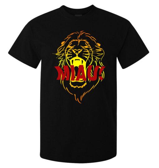 Meow! Roaring Black Top Men Art Style Lion (Available For Women) T Shirt