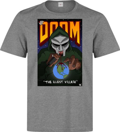 Mf Doom The Illest Villain Art Men (Women Available) Gray T Shirt