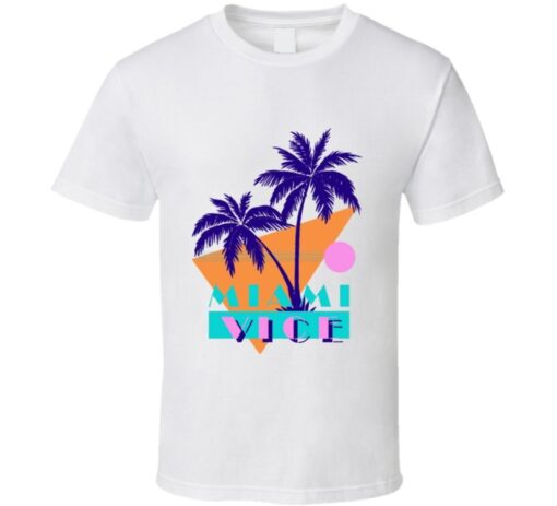Miami Vice Palm Spin 80S Retro Tv Show T T Shirt