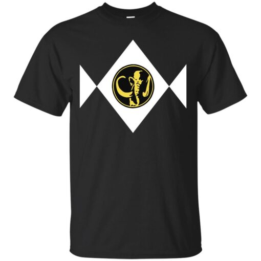 Mighty Morphin Power Rangers Black Cotton T-Shirt