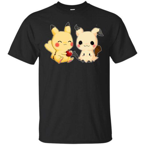 Mimikyu and Pikachu Cotton T-Shirt