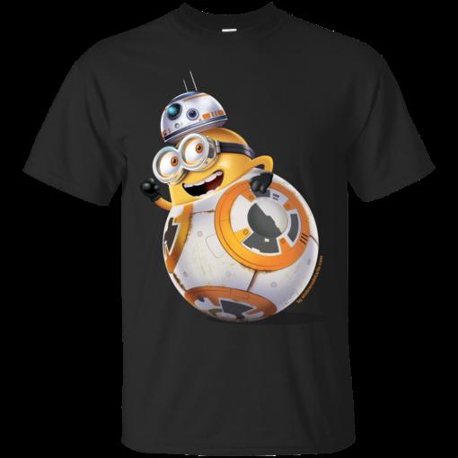 Minion BB8 the force awakens Cotton T-Shirt