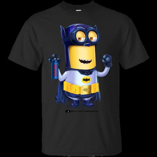 Minion Batman despicable me Cotton T-Shirt