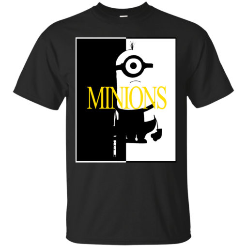 Minion Face cartoon Cotton T-Shirt