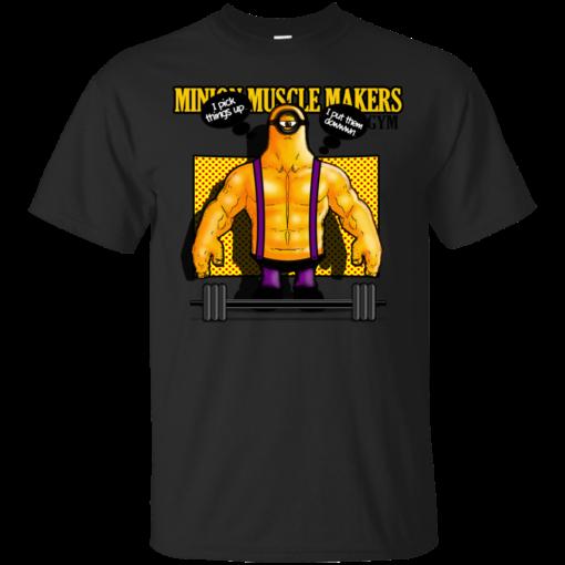 Minion Muscle Makers Gym minion Cotton T-Shirt