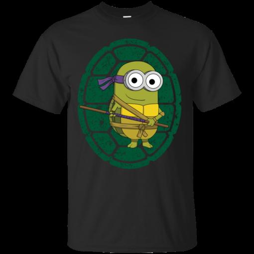 Minion Turtle Donatello teenage mutant ninja turtles Cotton T-Shirt