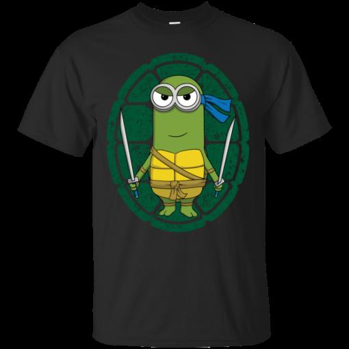Minion Turtle Leonardo teenage mutant ninja turtles Cotton T-Shirt