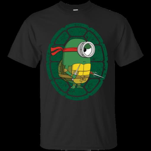 Minion Turtle Raphael teenage mutant ninja turtle Cotton T-Shirt