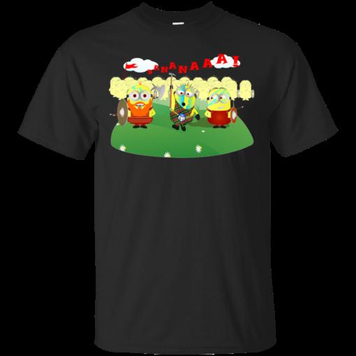 Minion Wallace braveheart Cotton T-Shirt