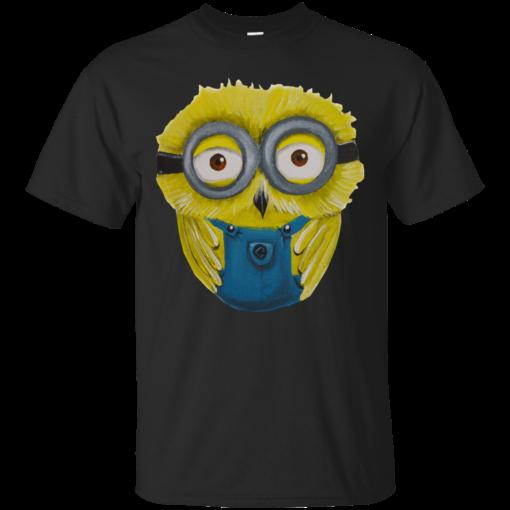 Minion cute owl  Cotton T-Shirt