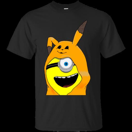 Minion in a Pikachu minion Cotton T-Shirt